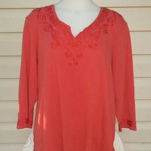 JM Collection Red Top. XL